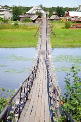 Suspension bridge over the rive