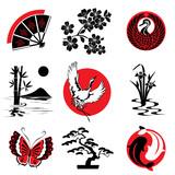 Fototapety Japanese design elements