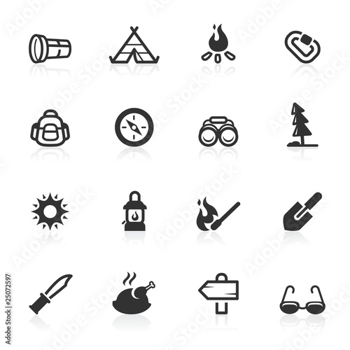 Outdoor & Camp Icons - minimo series