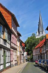 Fachwerkhäuser und St. Sixti-Kirche in Northeim