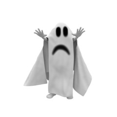 3d man ghost costume