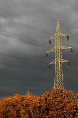 High-voltage electrical transmission tower
