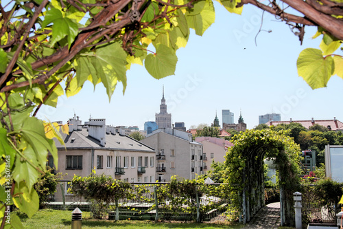 View of Warsaw- from roof of University Library © Marcin Chodorowski