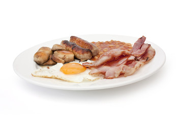fried english cooked breakfast