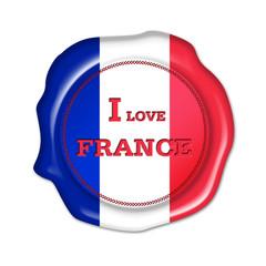 i love france button, siegel, stempel