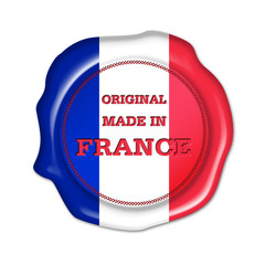 made in france button, siegel, stempel