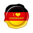 i love germany button, herz, siegel, fan stempel
