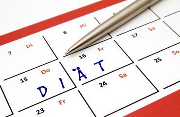 Planung Diätprogramm