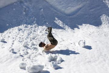 Falling climber.