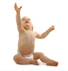 bébé avec les bras tendus