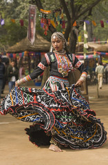 Rajasthani Dancer Performing in India