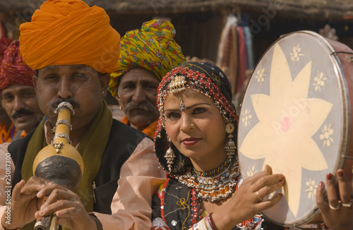 Tribal Music and Dance Group from Rajasthan in India