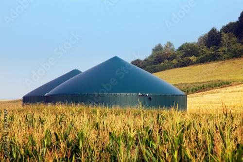Leinwanddruck Bild biogas plant 05
