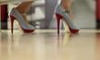Sexy Frau in 5inch-High-Heels