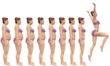 Fototapety Fat to Fit Before After Diet Weight Loss Success