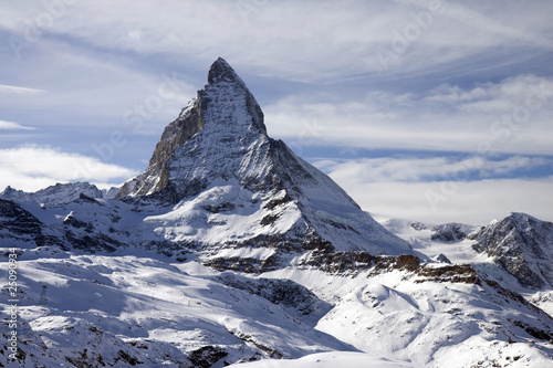 Panoramic view with Matterhorn