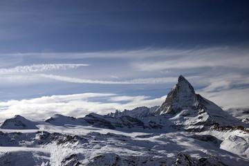 Panoramic view with Matterhorn