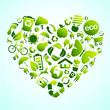 Eco icon heart