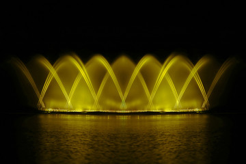 Beautiful fountain show