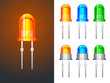 Red, green and blue leds in glass and metallic variants - 25094110