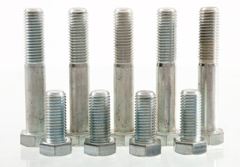 Nine standing bolts