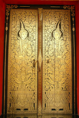 Traditional Thai art on a door