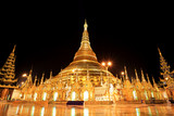Shwedagon pagoda at night, Rangon,Myanmar