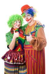 Couple of happy clowns
