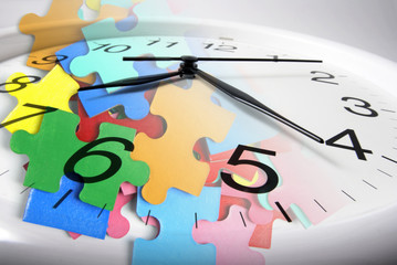 Clock and Jigsaw Puzzle