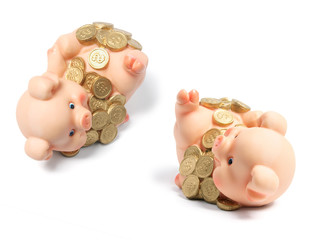 Piggybanks with Coins