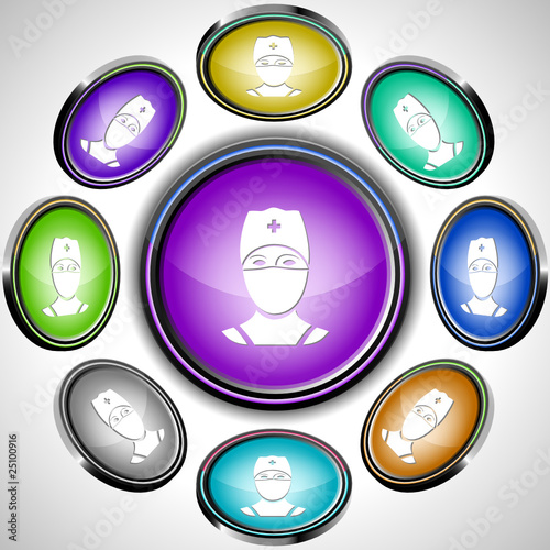 Doctor. Vector internet buttons. 8 different projections.