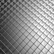 Silver aluminium tile background 3d illustration