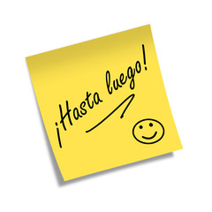 Post-it ¡HASTA LUEGO!