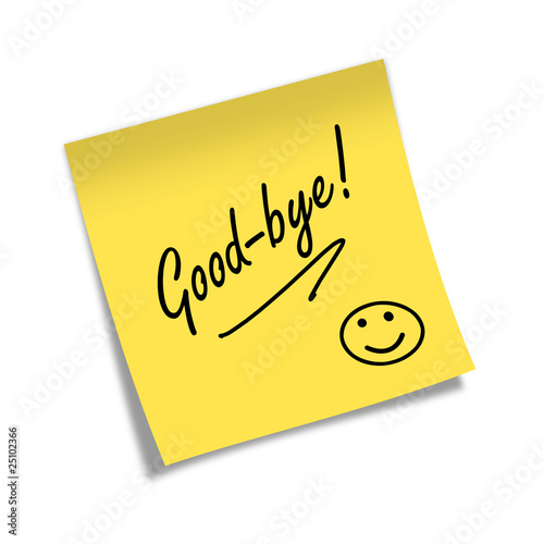 Post-it GOOD-BYE!