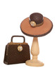 Ladies hat and bag ornament