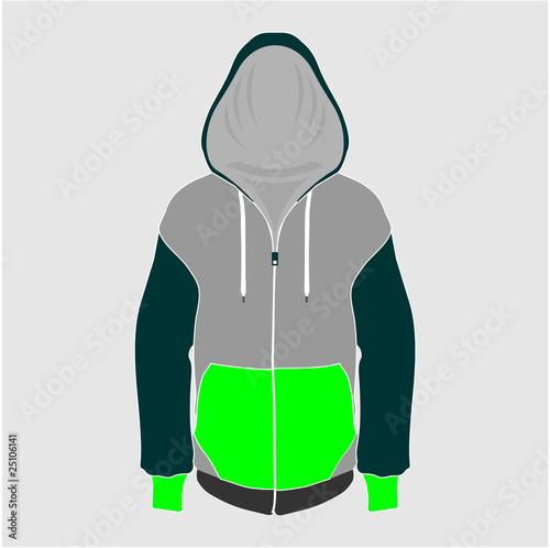 sweatshirt vector template. Retro vector hoodie