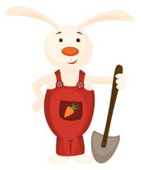 Cute bunny and spade