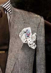 in a blazer pocket