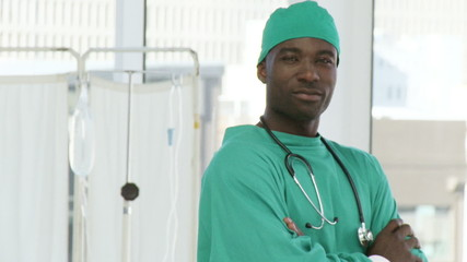 Confident and proud surgeon