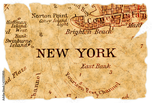 New York old map - 25115950