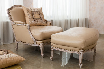 beautiful brown armchair