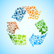 Colorful eco recycle icons