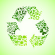 Green eco recycle icons