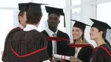 Successful College Graduates celebrating