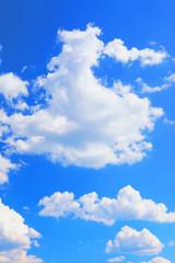 Colorful bright blue sky