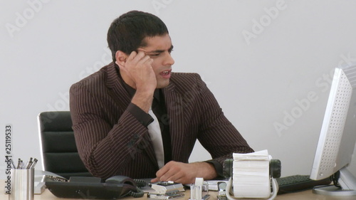 Businessman frustrated and helpless