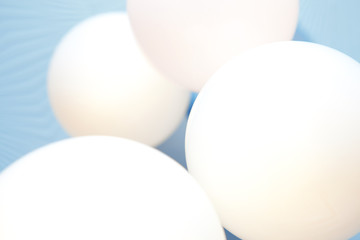white balloons, abstract background