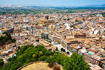 Great view of old Spanish town,