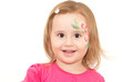 Smiling little girl with face-art