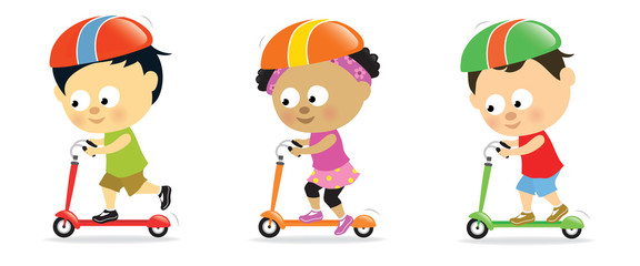 Kids on scooters 2